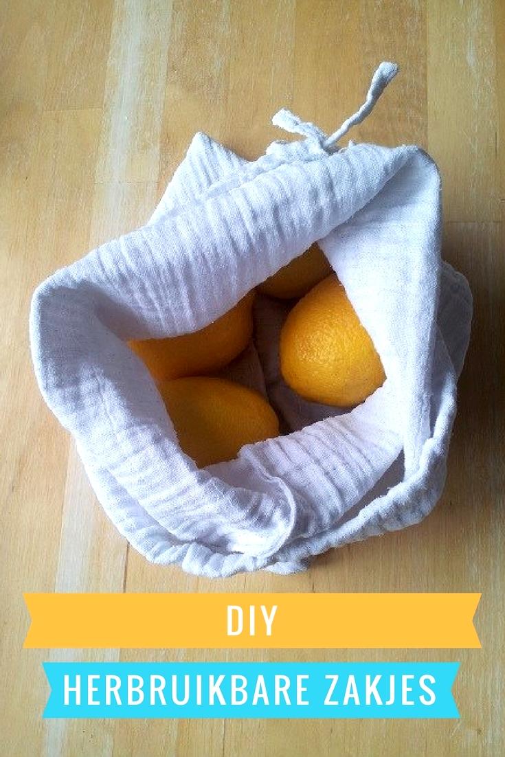 DIY herbruikbare katoenen zakjes