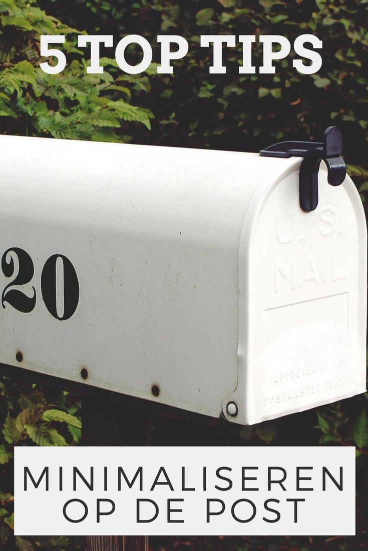 5 tips om te minimaliseren op de post