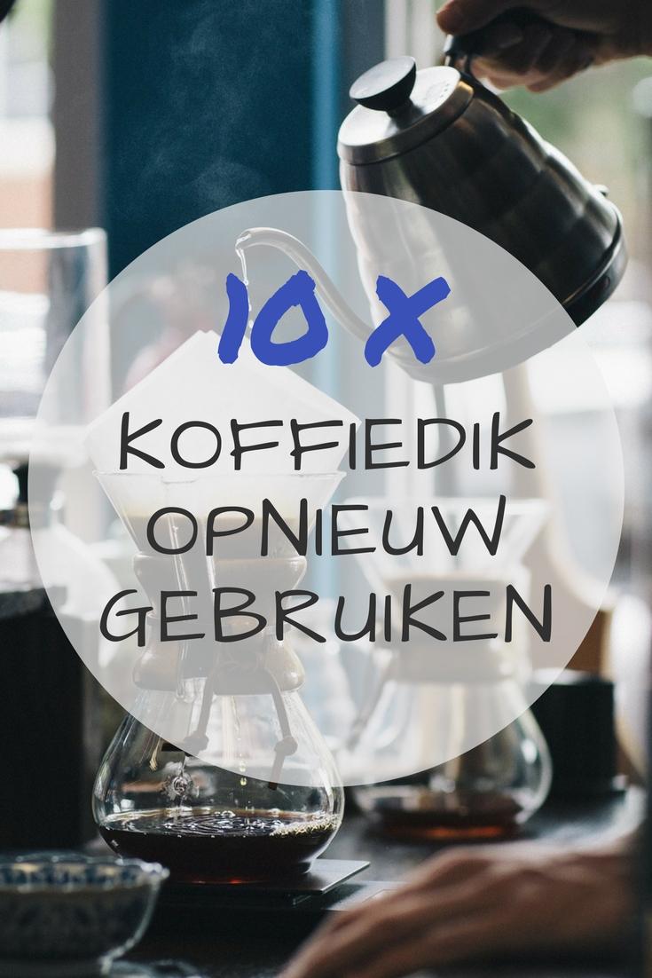 10 tips om koffiedik opnieuw te gebruiken
