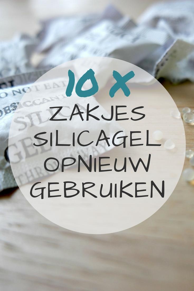 10 tips om zakjes silicagel opnieuw te gebruiken