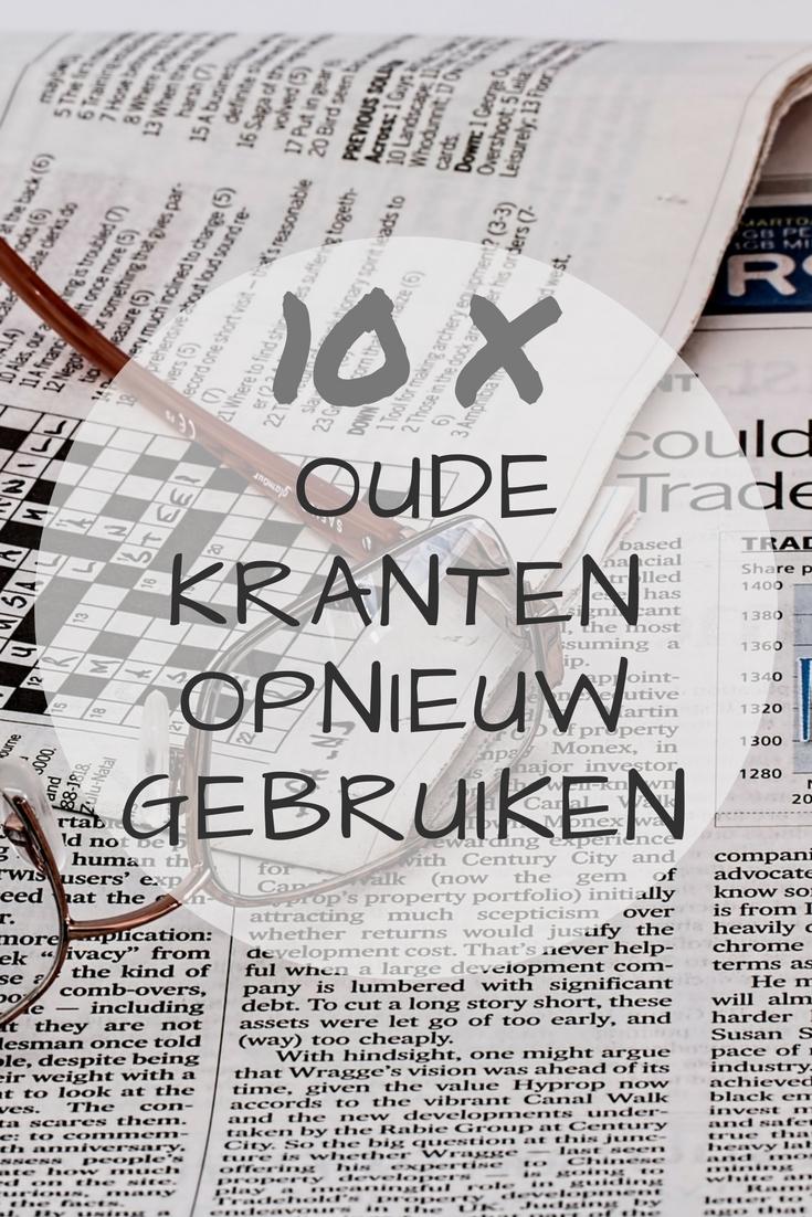 10 tips om oude kranten opnieuw te gebruiken