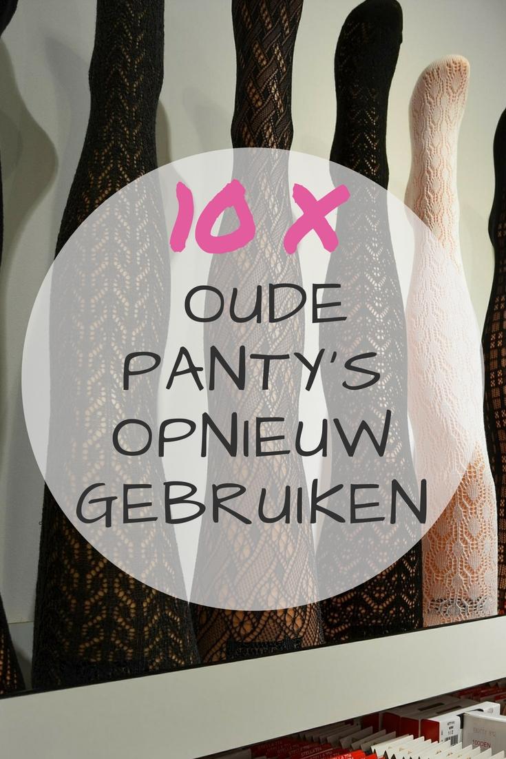 10 tips om oude panty's opnieuw te gebruiken