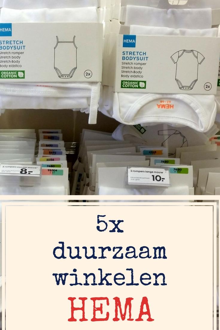 5x duurzaam winkelen bij HEMA