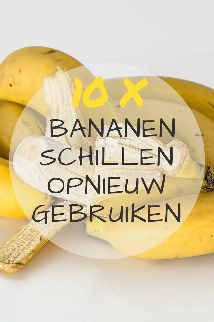 10 tips om bananenschillen opnieuw te gebruiken