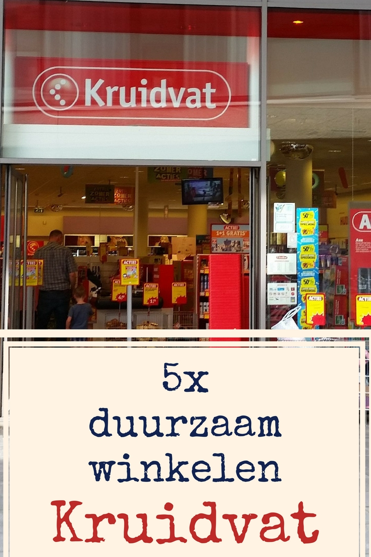 5x duurzaam winkelen bij Kruidvat