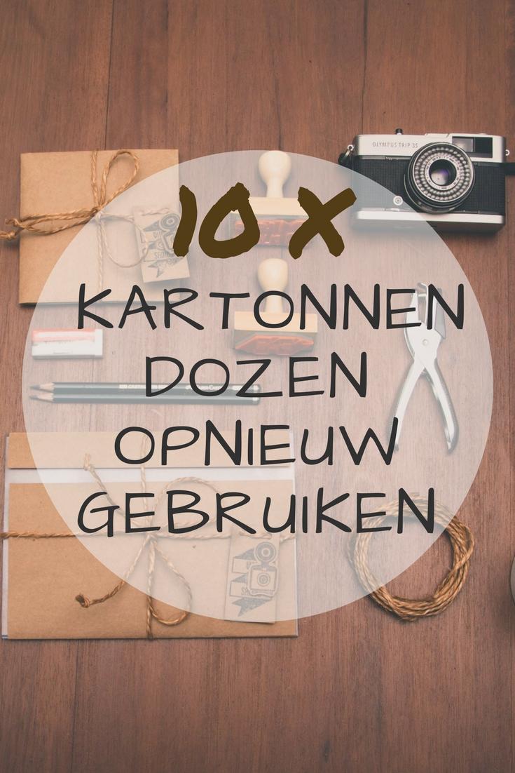 10 tips om kartonnen dozen opnieuw te gebruiken