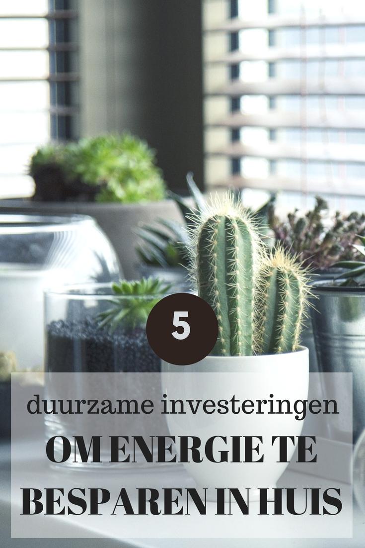 5 duurzame investeringen in huis om energie te besparen