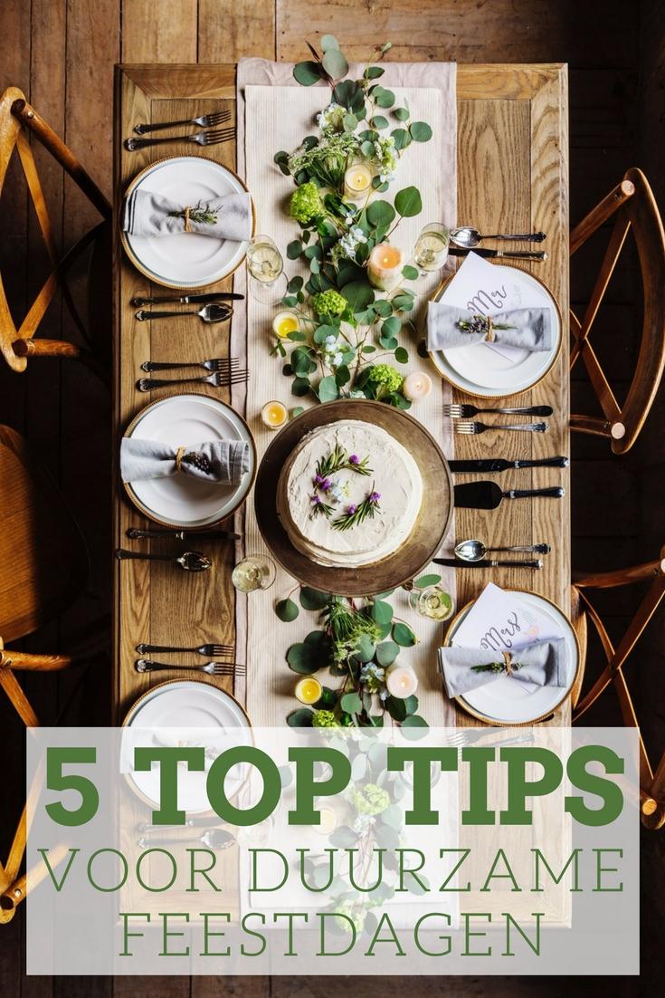 5 tips voor duurzame feestdagen