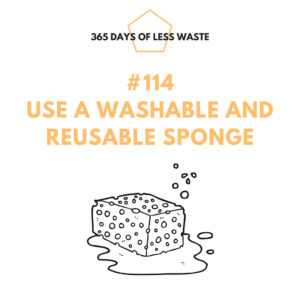 #114 use a washable and reusable sponge Insta