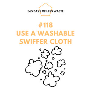 #118 use a washable swiffer cloth Insta