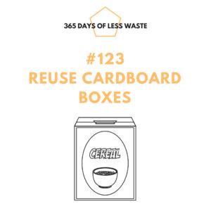 reuse cardboard boxes