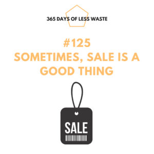 #125 sometimes sale is a good thing Insta