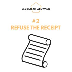 #2 refuse the receipt