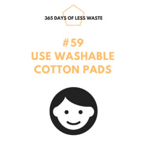 use washable cotton pads