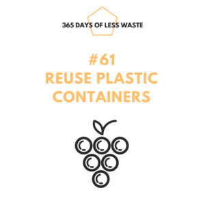 reuse plastic containers