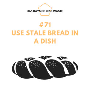 use stale bread in a dish
