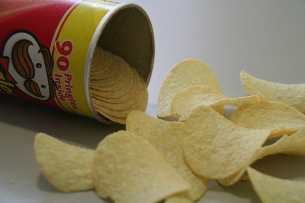 hergebruik Pringles bussen