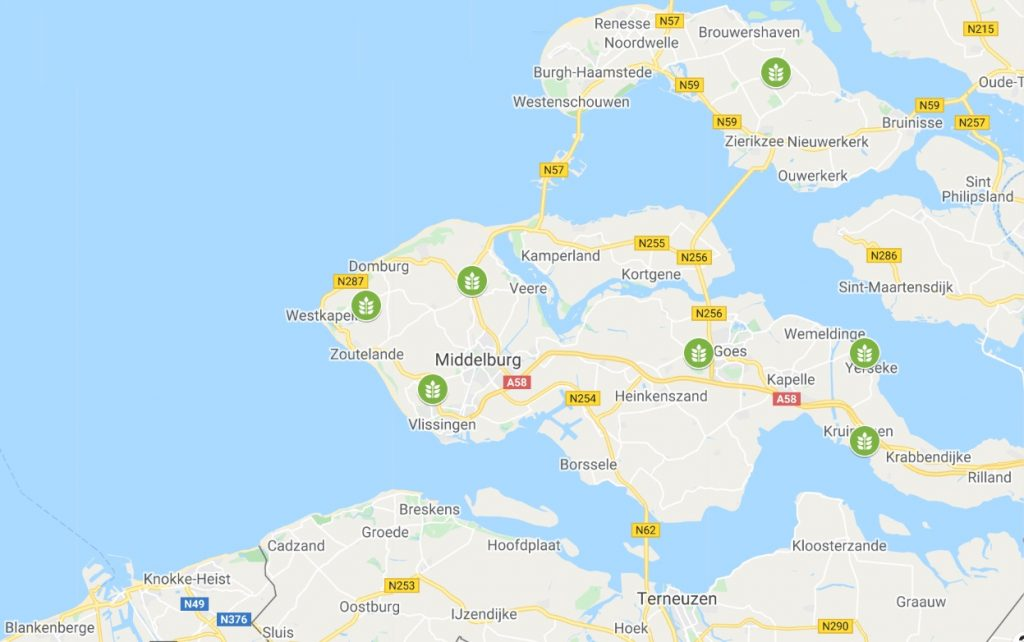 maps Zeeland